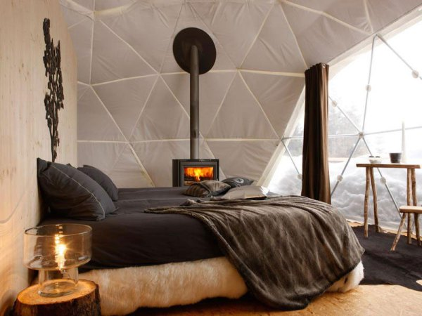 Amberlair Crowdsourced Crowdfunded Boutique Hotel White Pod Snow - BoutiquEco: The world's finest 15 green retreats