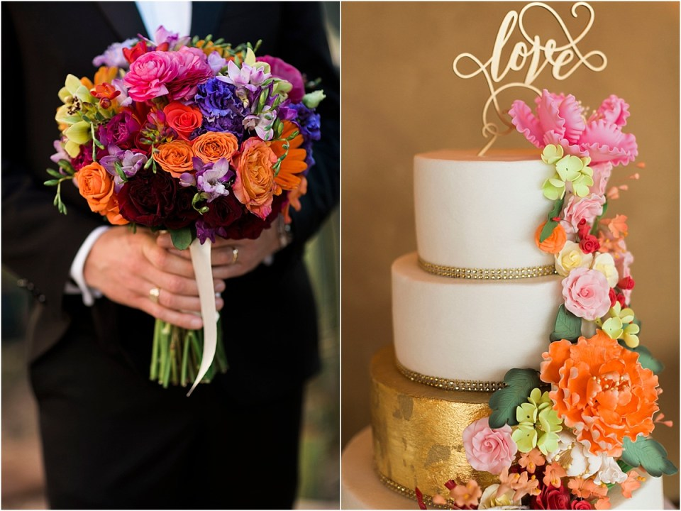 Wedding Details with sprint florals.