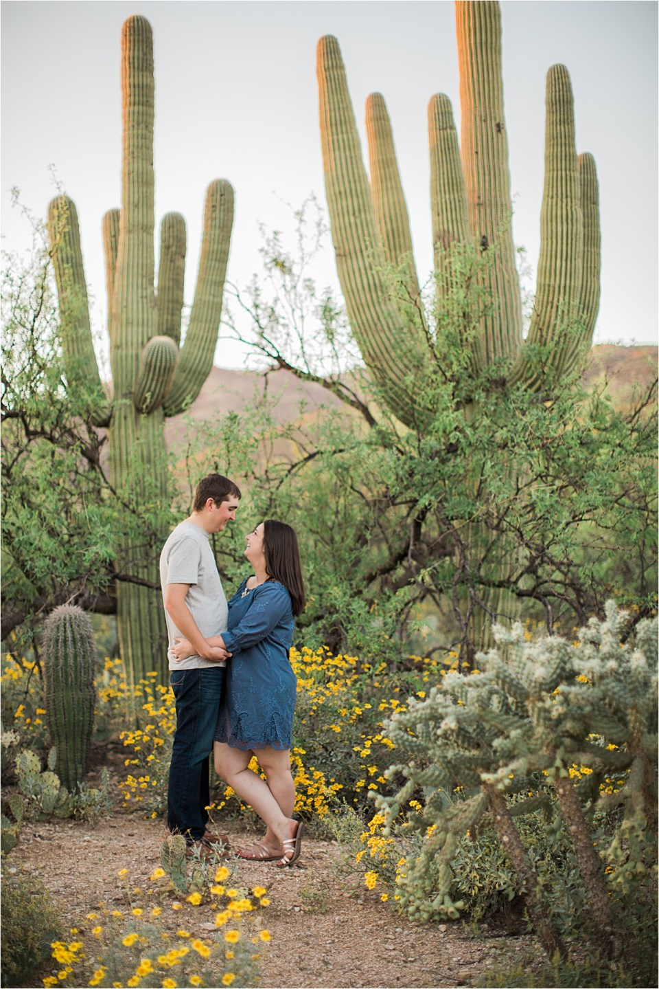Desert engagement session in Tucson, Arizona.