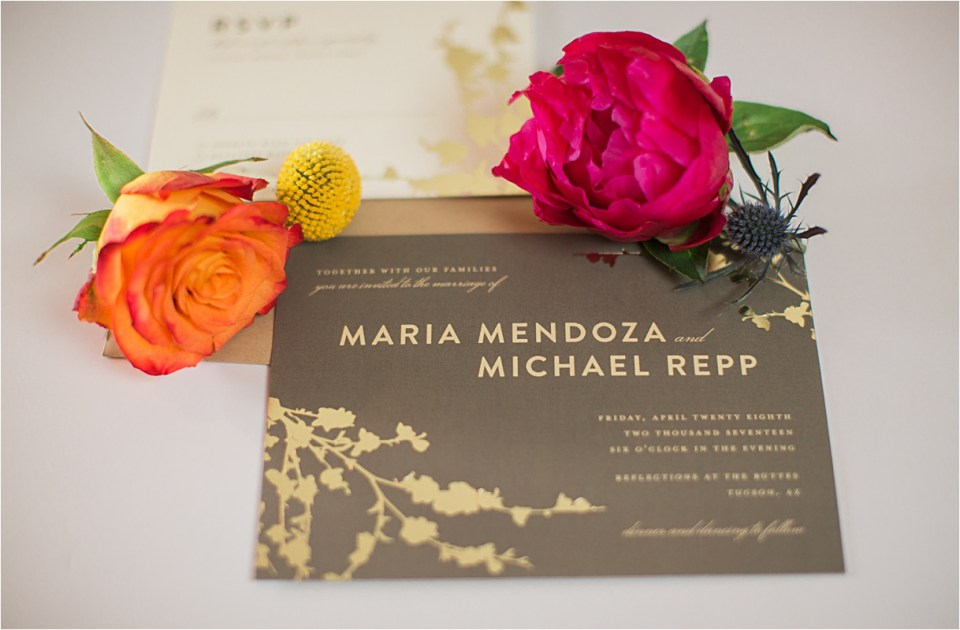 Elegant & Modern Gold and Grey Invitation suite from Minted.com