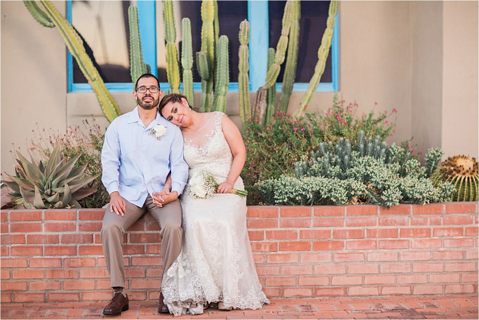 Bride and Groom in Downtown Tucson, Arizona.