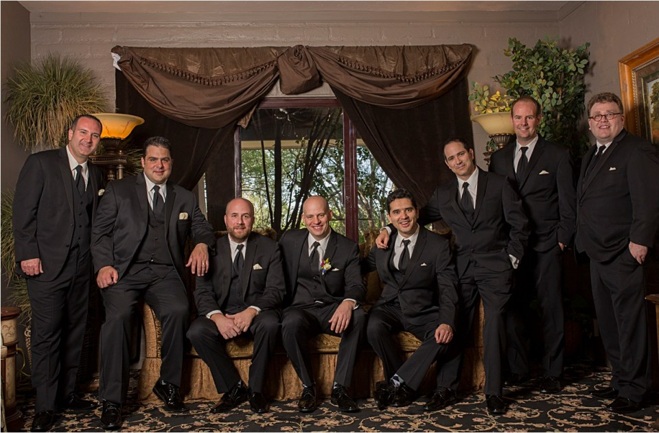 Groomsmen at Reflections at the Buttes
