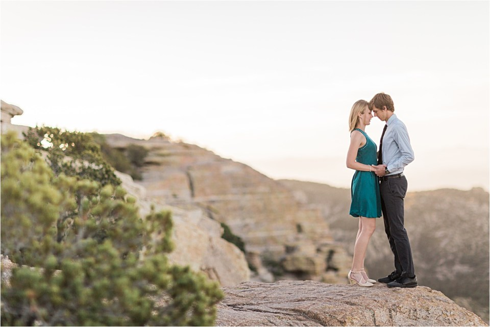 Mount Lemmon Engagement at Windy Point, Tucson, Arizona