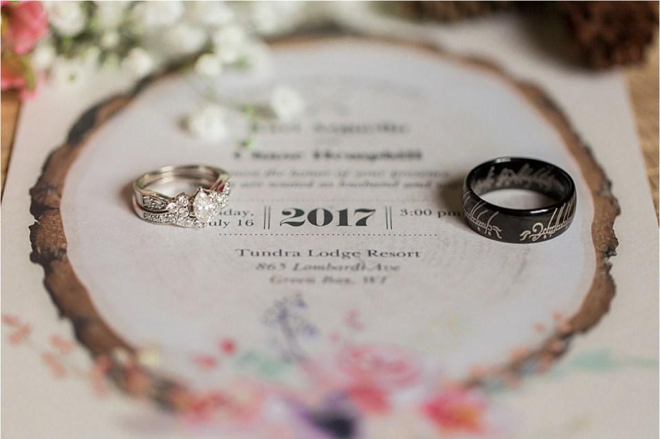 Rustic bridal details.