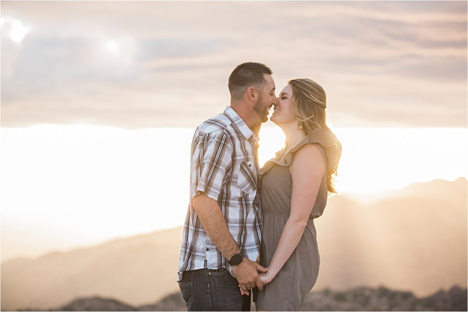 Sunset engagement session on Mount Lemmon.