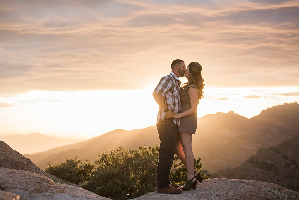 Sunset kiss at Windy Vista Point on Mount Lemmon
