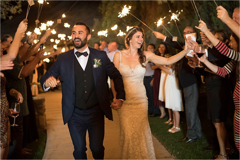 Sparkler Exit at Tanque Verde Ranch Wedding.