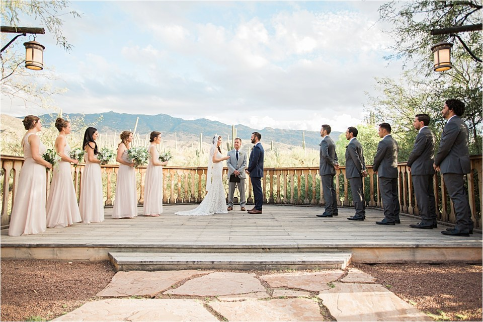 Ceremony at Tanque Verde Ranch Wedding