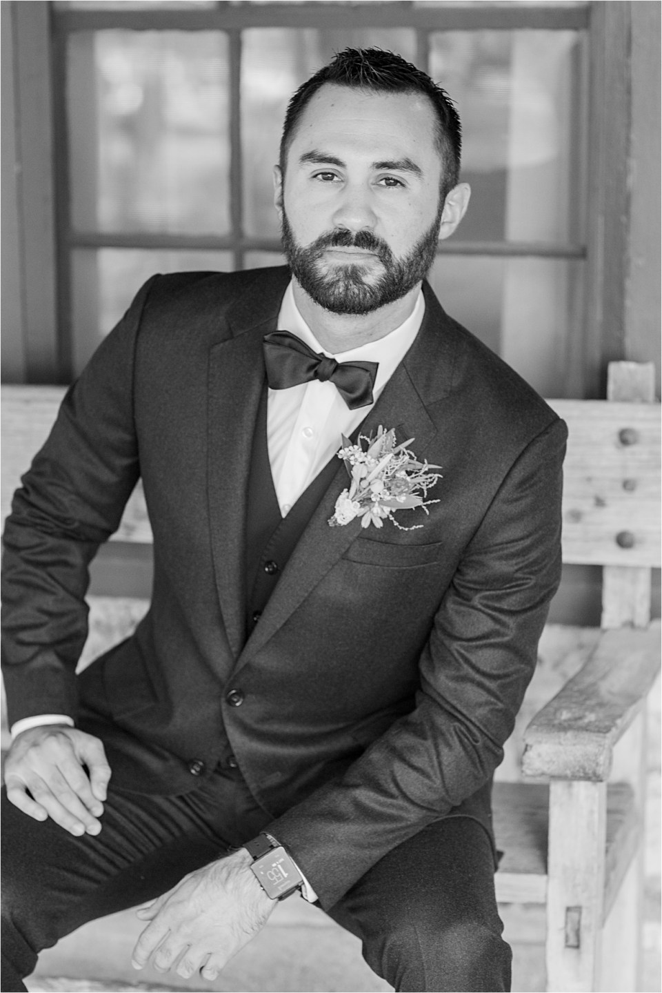 Groom at Tanque Verde Ranch Wedding.