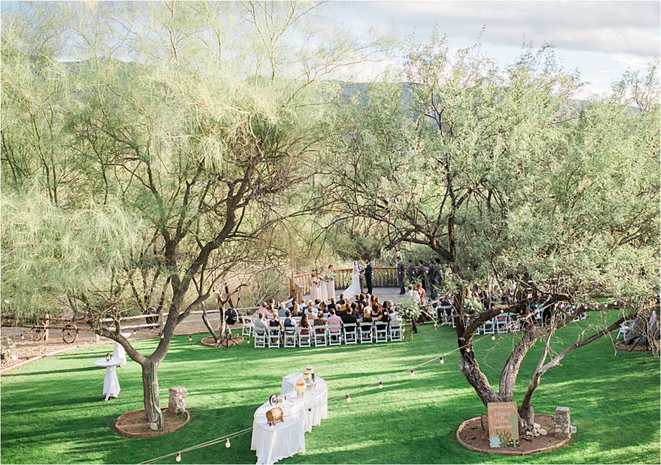 Wedding Ceremony at Tanque Verde Ranch Wedding