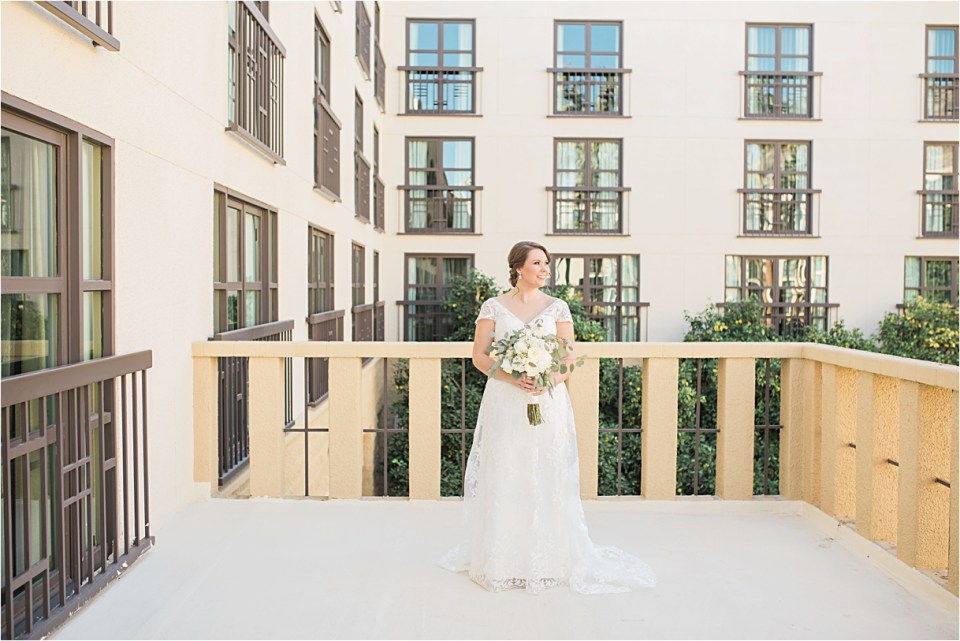 Bridal portraits at Tempe Mission Palms Hotel.