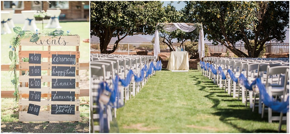 Tucson DIY Backyard Wedding Ceremony