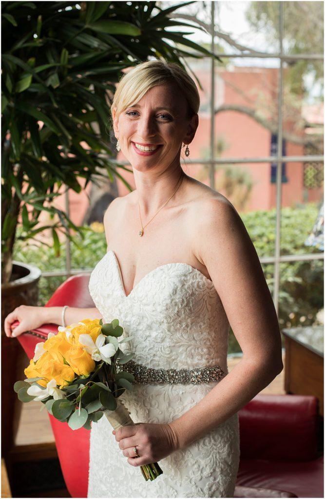 Bridal portrait at Historical Arizona Inn, Tucson, Arizona