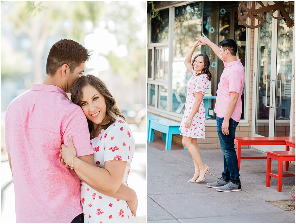 Downtown Tucson Engagement Session with Amber Lea Photography.