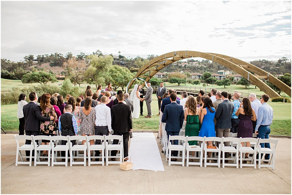 Wedding at Riverwalk Golf Club in San Diego.