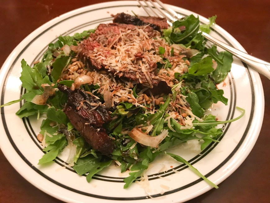 balsamic flank steak salad, healthy dinner, salads