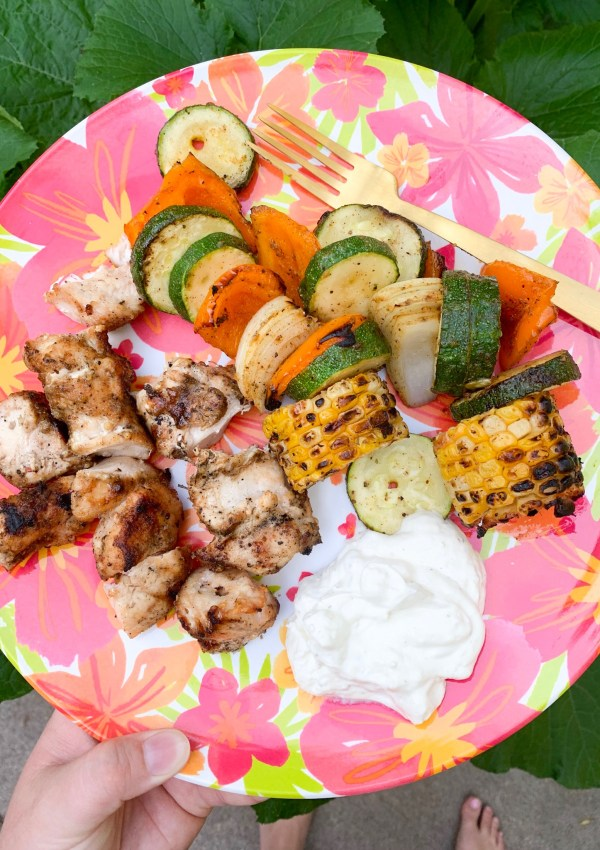 You can't go wrong with kabobs. Dip them in french onion dip to get even more flavor.