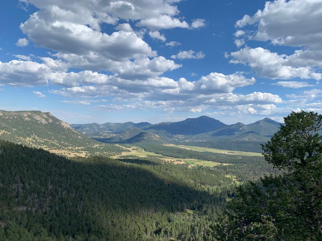 Trail Ridge Road scenic overlook in Colorado.