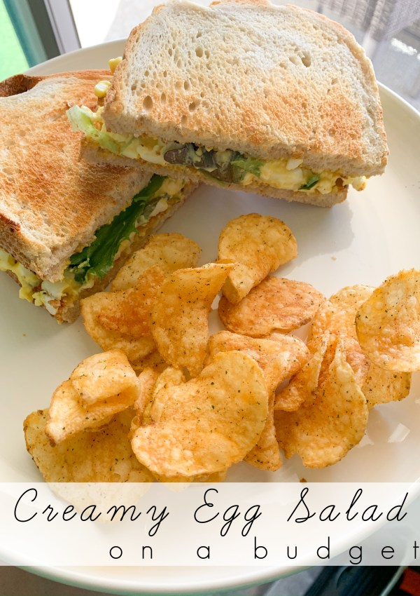 Budget Friendly Lunch: Egg Salad Sandwich