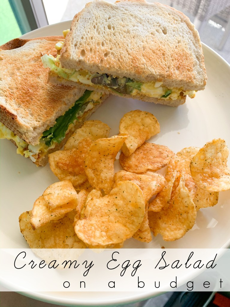 This creamy egg salad is an easy and cost effective lunch that will last you multiple meals! Add a simple side for a complete plate!