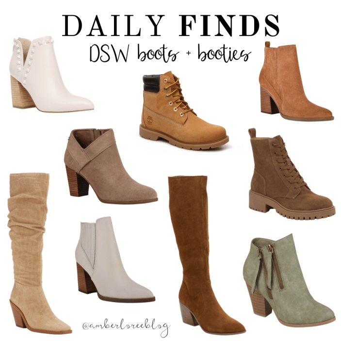 There are so many adorable shoes out there this time of year so I thought I'd share some Fall boots and booties from DSW. I want them all!