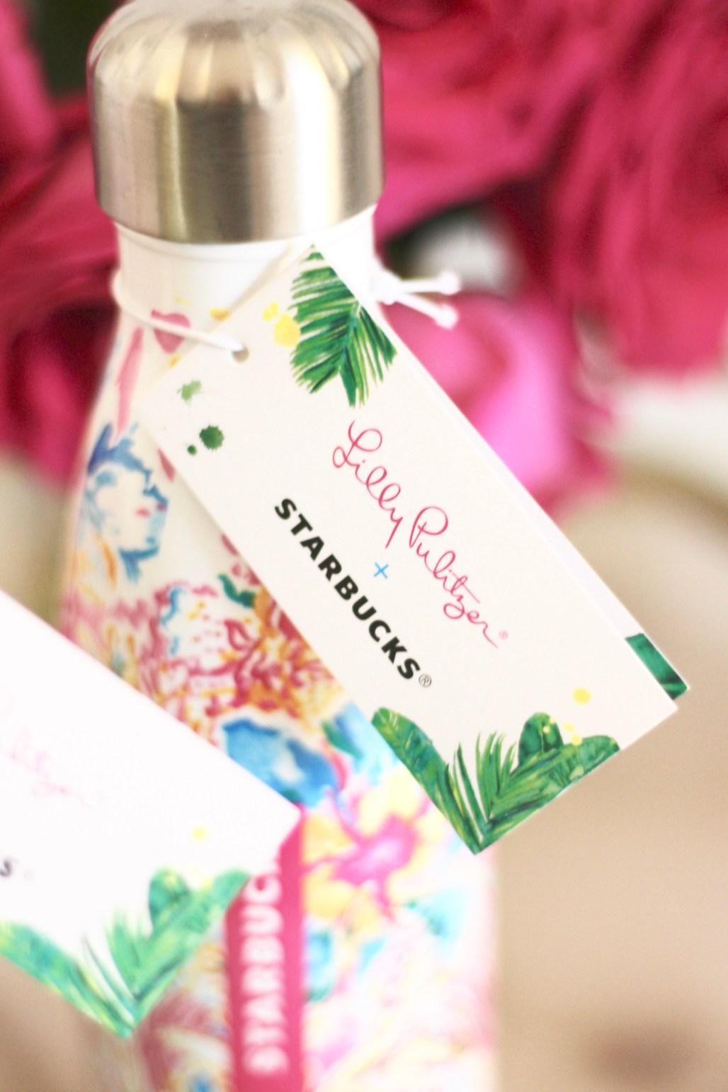 Lilly Pulitzer + Starbucks + Swell Water Bottles | amberpizante.com