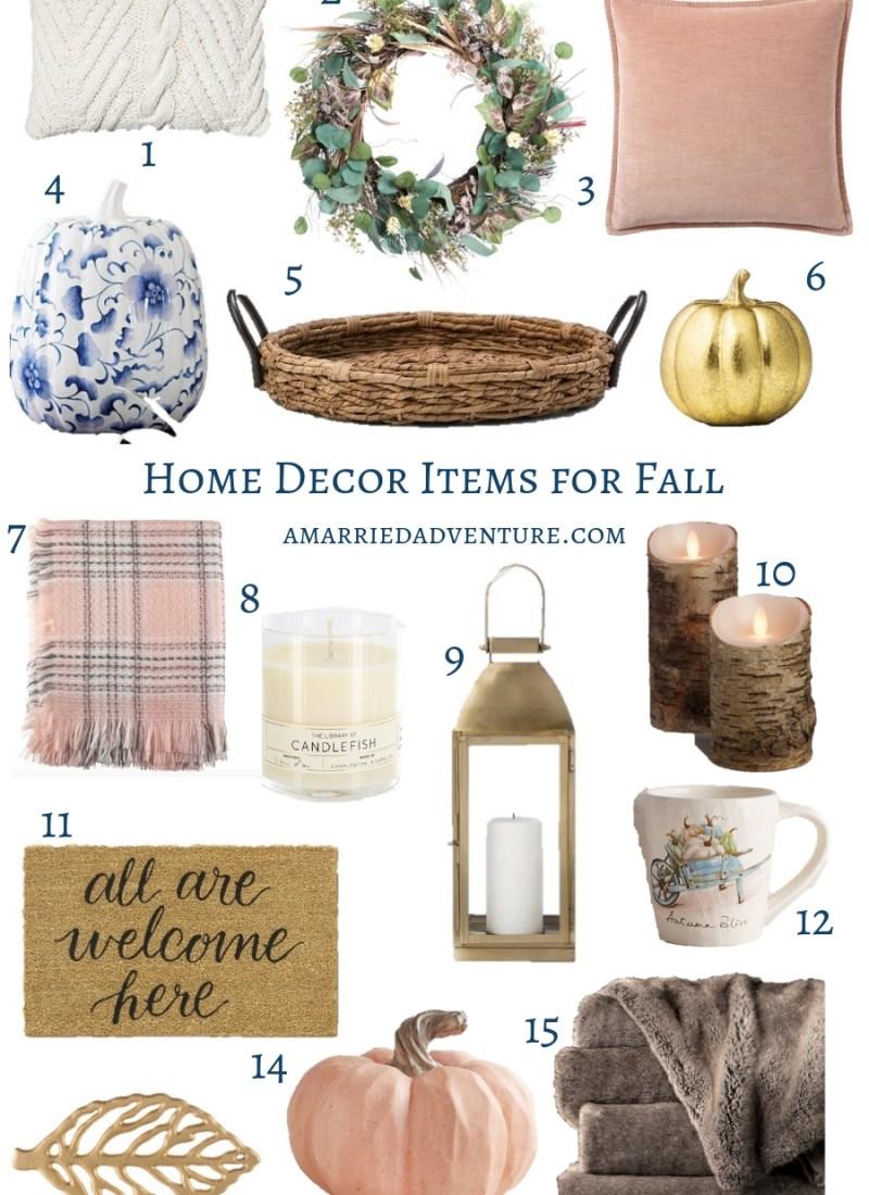 Home Decor Items for Fall