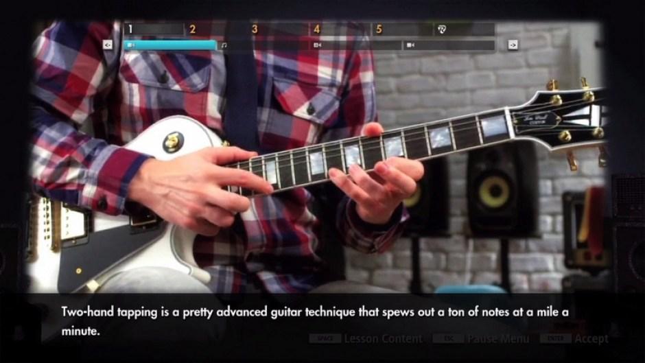 Rocksmith 2014 guitar tutorial screenshot
