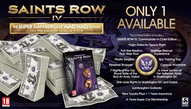 Saints Row IV Wad Wad Edition contents