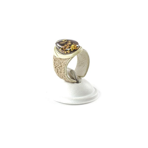 leather-ring-with-natural-baltic-amber-lioness