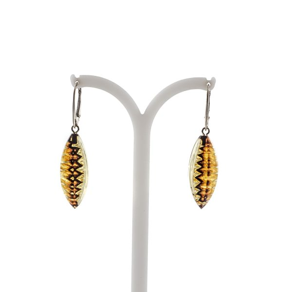 silver-earrings-with-natural-baltic-amber-aztec-II