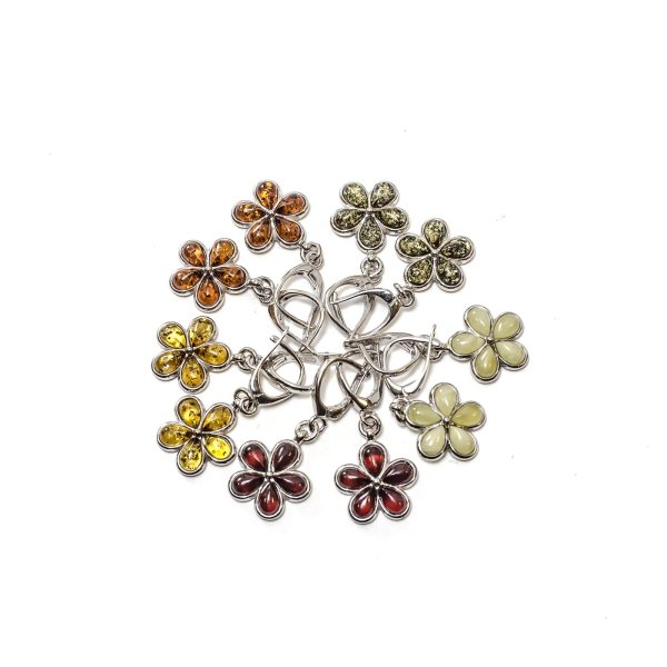 silver-earrings-with-natural-baltic-amber-flowers