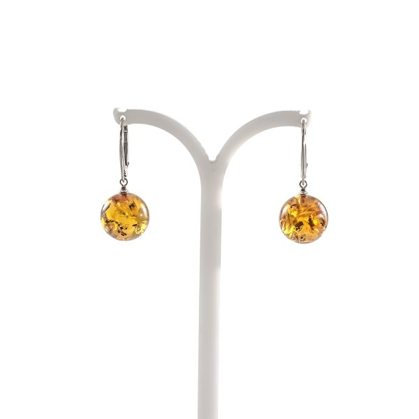 silver-earrings-with-natural-baltic-amber-orange-hang