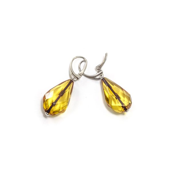 silver-earrings-with-natural-baltic-amber-raindrop-faceted