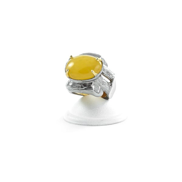 silver-ring-with-natural-yellow-amber-piece