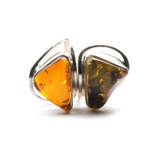 silver-ring-with-two-batural-baltic-amber-stones-front-view