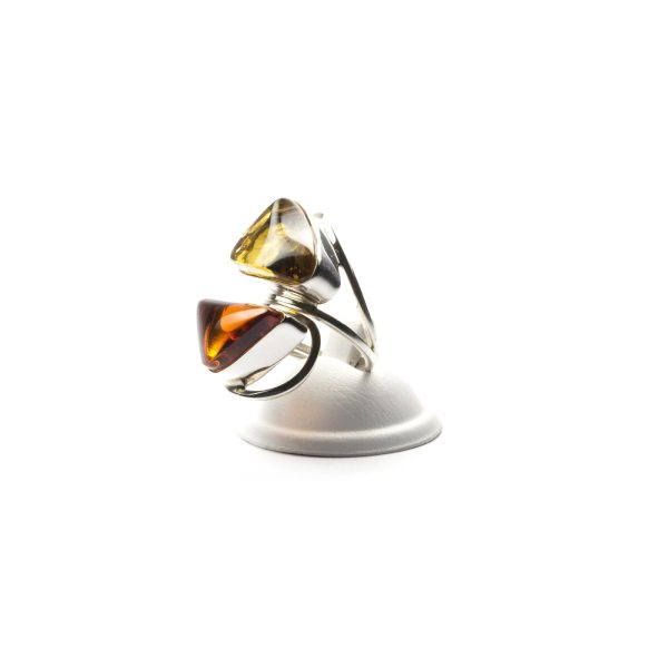 silver-ring-with-two-batural-baltic-amber-stones
