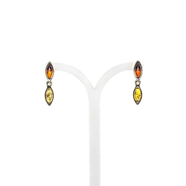 gold-earrings-14k-with-natural-baltic-amber-charm-2