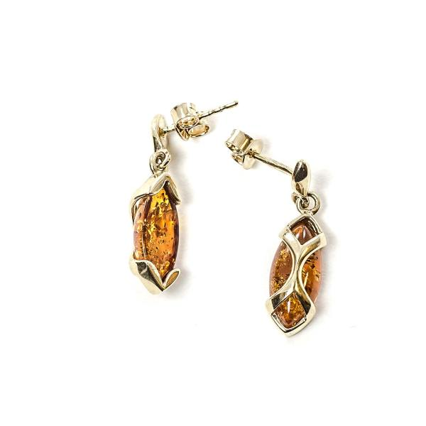 gold-earrings-14k-with-natural-baltic-amber-egypt