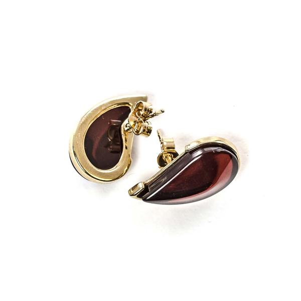 gold-earrings-14k-with-natural-baltic-amber-leaflet-cherry