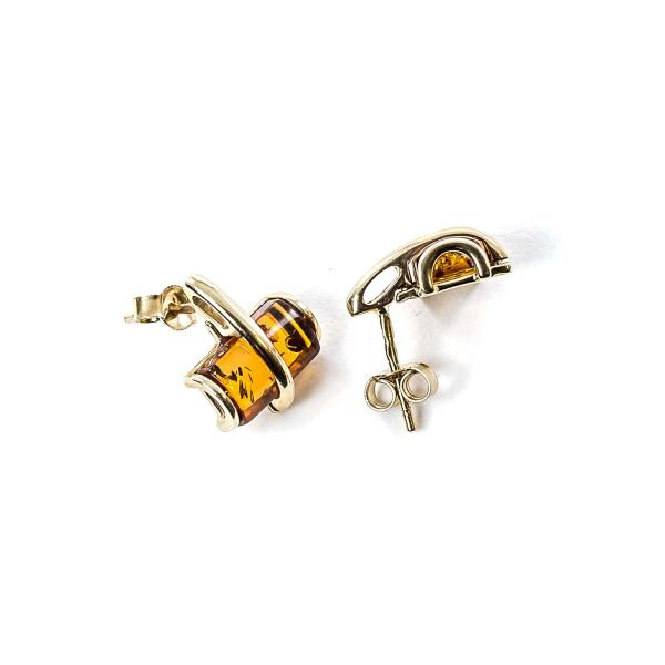 gold-earrings-14k-with-natural-baltic-amber-radiance
