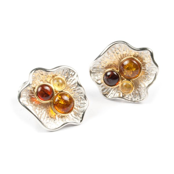 silver-earrings-with-natural-baltic-amber-pearls
