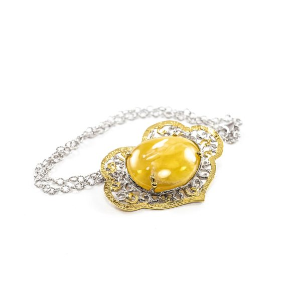 silver-necklace-with-gold-plated-silver-pendant-with-amber-stone-mango-2