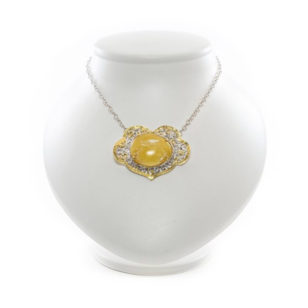 silver-necklace-with-gold-plated-silver-pendant-with-amber-stone-mango
