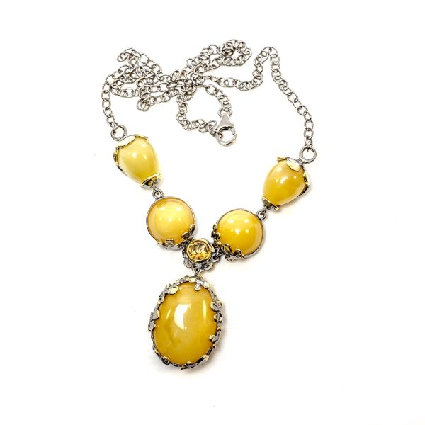 silver-necklace-with-gold-plated-silver-pendant-with-amber-stone-milfay-2
