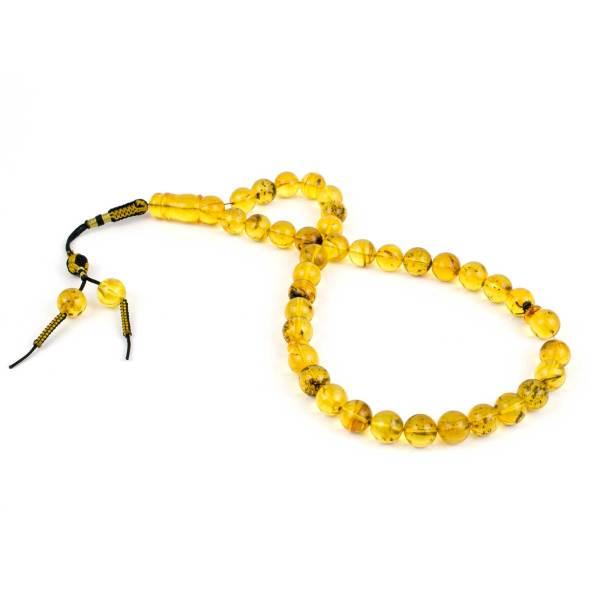 Natural Green Amber Prayer Beads