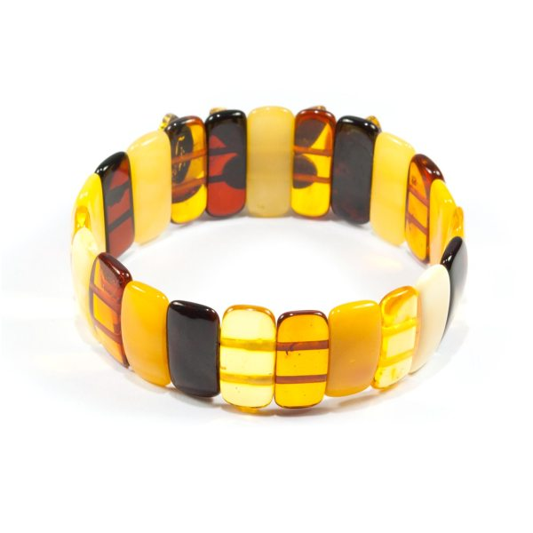 multicolor amber braclet back view