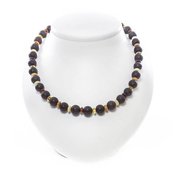 unpolished beaded necklace