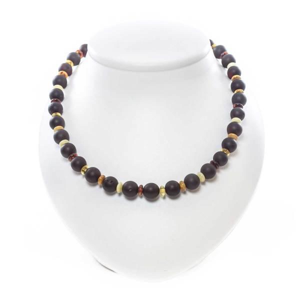 unpolished beaded necklace