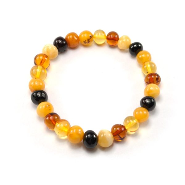 Colorful Natural Amber Bracelet